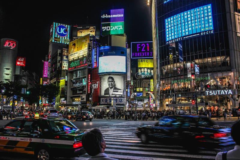 Shibuya Crossing arkivbild