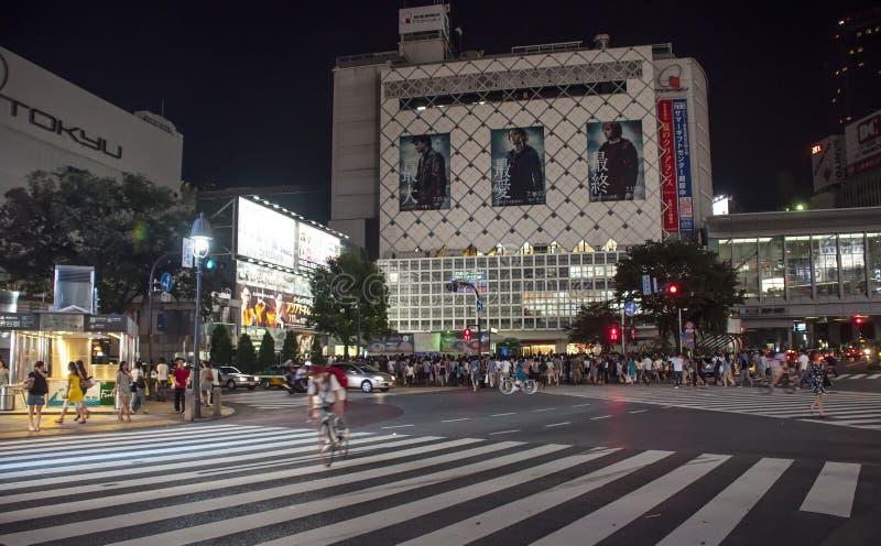 Shibuya crossing, Tokio royaltyfria foton