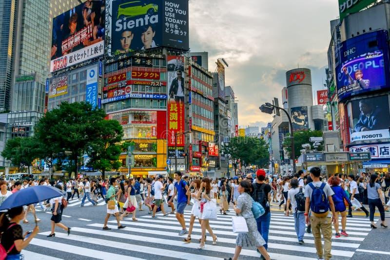 Shibuya Crossing in Tokio, Japan stock photos