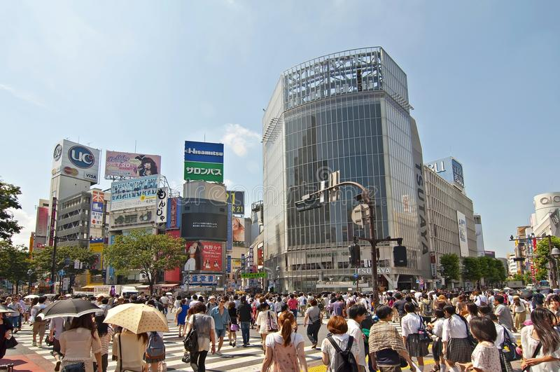 Download Shibuya crossing,Tokyo editorial photography. Image of skyscraper - 21440272