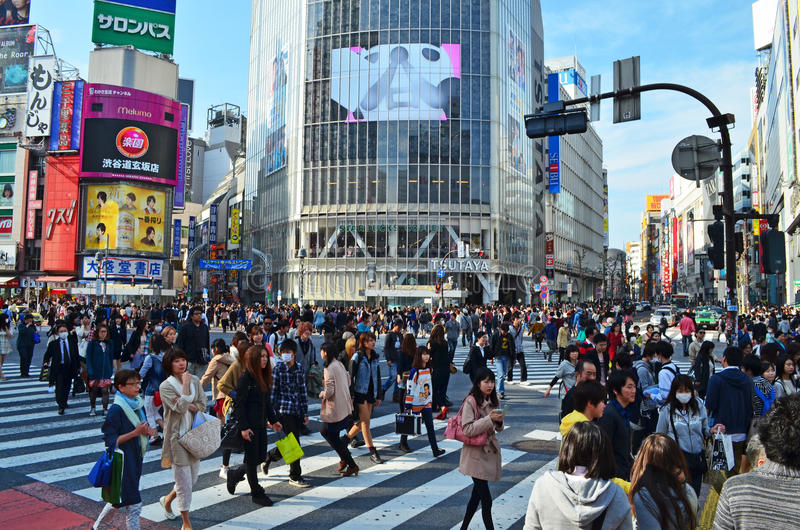 Shibuya, das Tokyo kreuzt stockbild