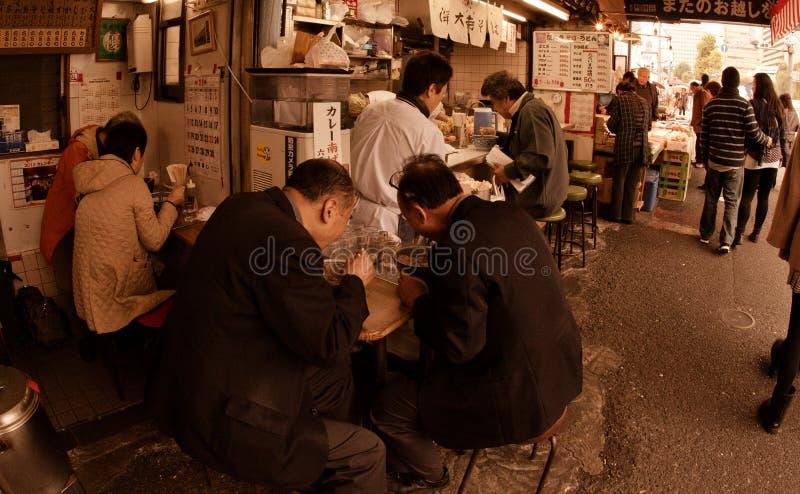 Shibuyafiskmarknaden tidigt på morgonen royaltyfri fotografi