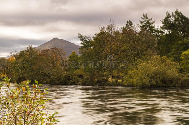 Shiehallion. An autumnal image of Shiehallion and the river Tummel in Perth and Kinross, Scotland. 18 October 2018 stock image