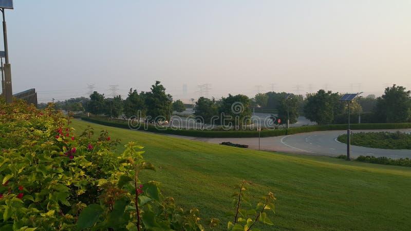 Shiekh Hamdan sportów kompleksu ogród obrazy stock