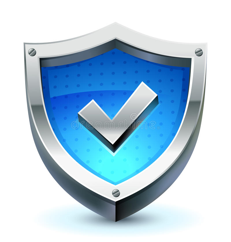 Shield as protection icon royalty free illustration
