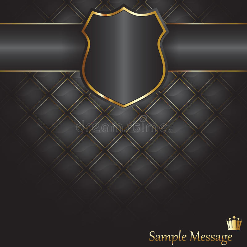 Shield background stock illustration