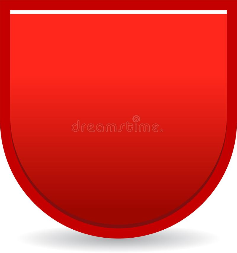 Shield badge red stock illustration