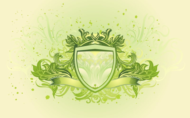 Download Shield banner stock vector. Image of green, cool, vintage - 8668186