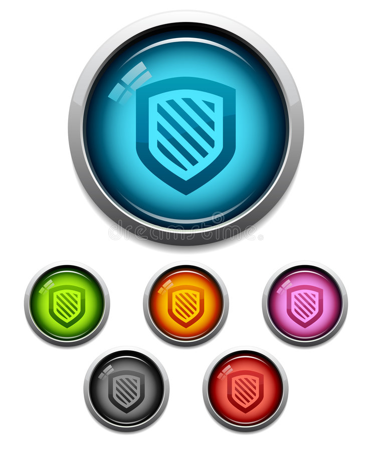 Download Shield button icon stock vector. Illustration of button - 6050381