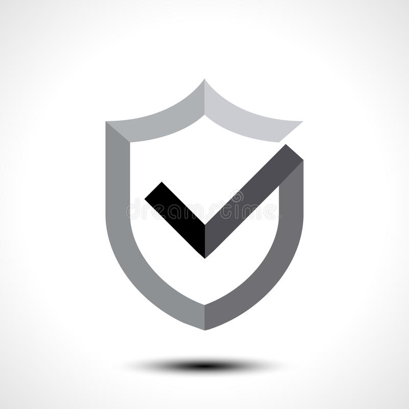 Shield check mark logo icon design template element royalty free illustration