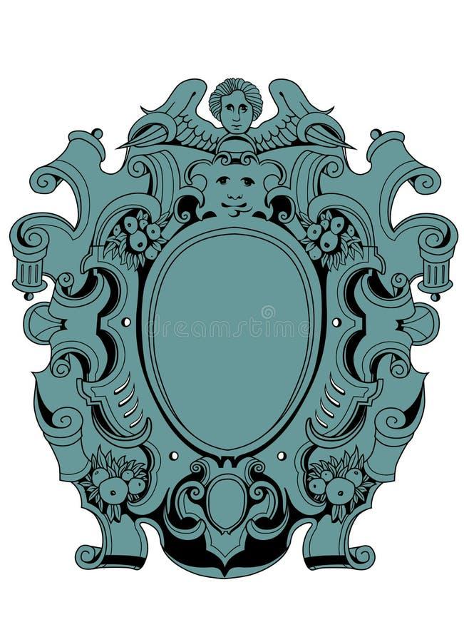 Download Shield cherub stock vector. Image of ornament, filigree - 23457254
