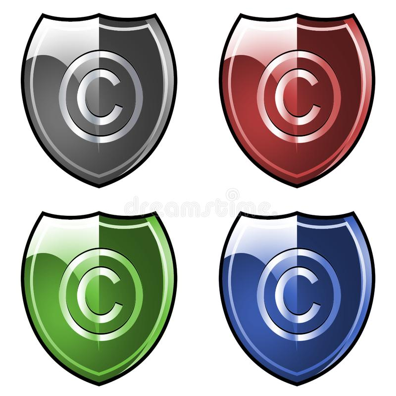 Stock Photography Shield With Copyright Symbol Picture Image 4323382