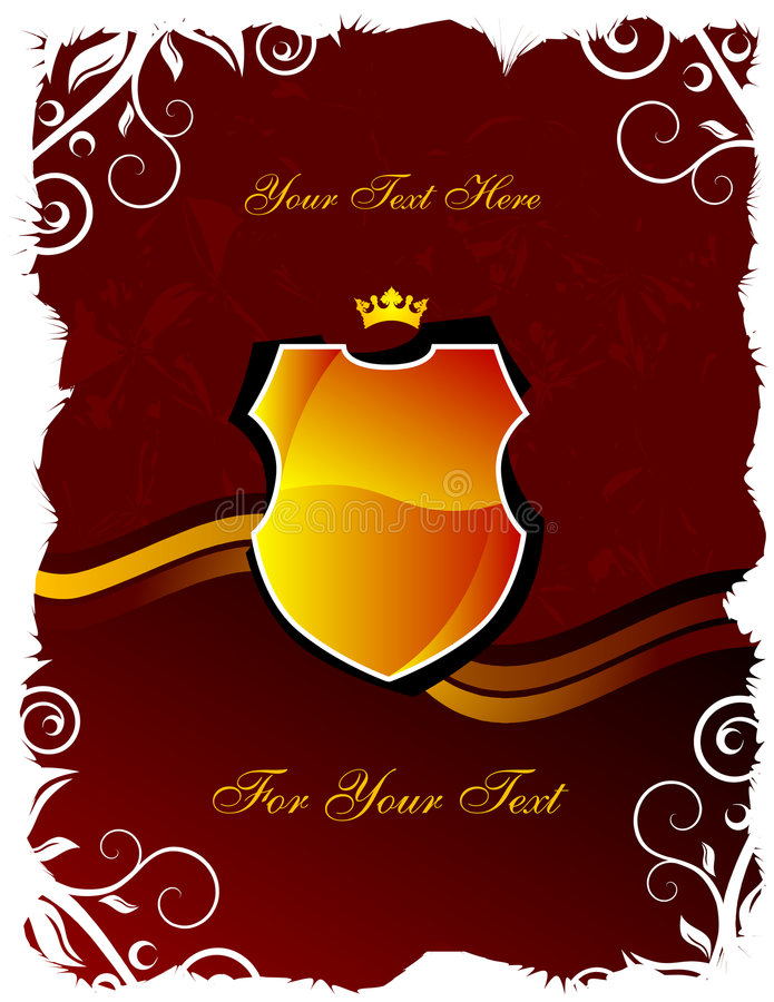 Download Shield and crown stock vector. Image of medallion, elegance - 5192688
