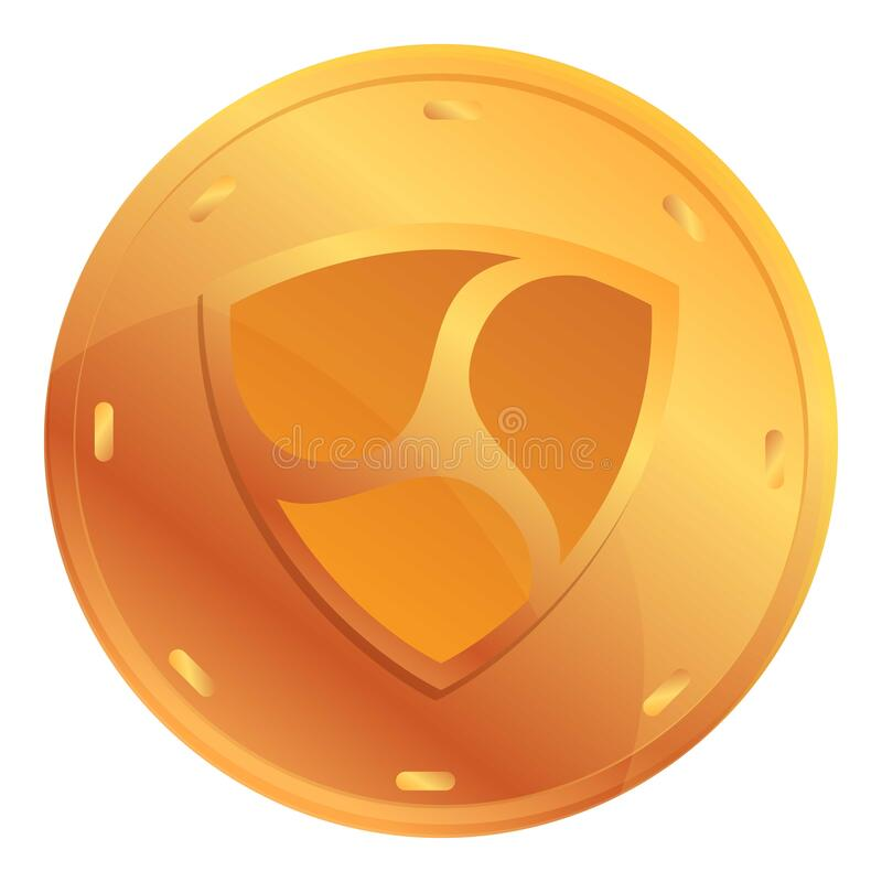 Free Shield Cryptocurrency Icon, Cartoon Style Stock Image - 216457331