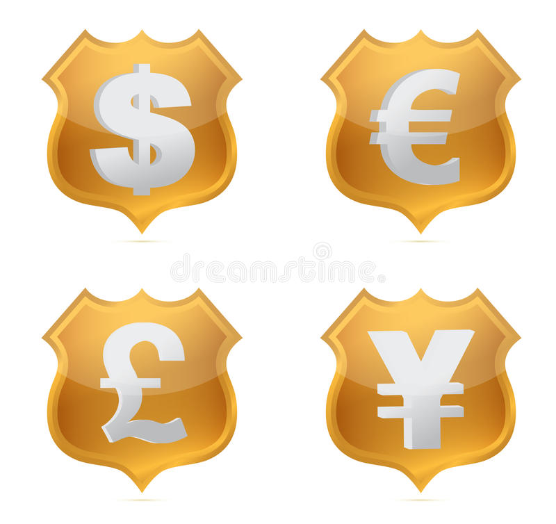 Download Shield Currency Signs Of Protection Illustration Stock Illustration - Image: 26913442