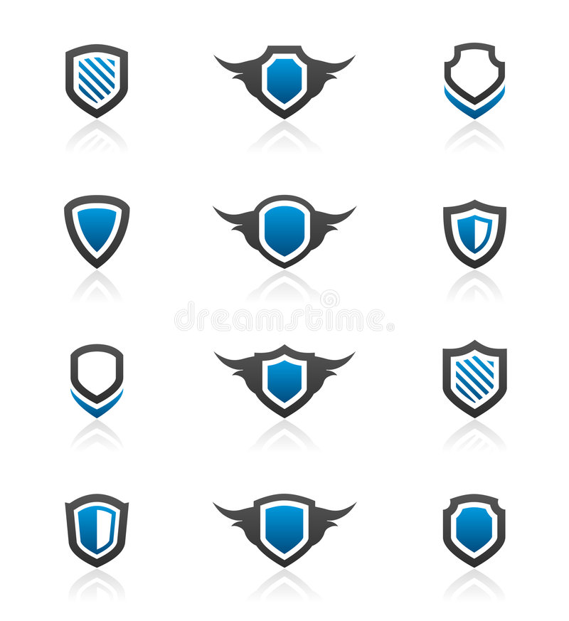 Shield design elements and graphics royalty free illustration