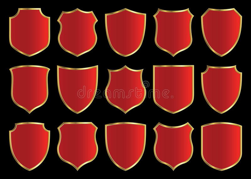 Shield design set royalty free illustration