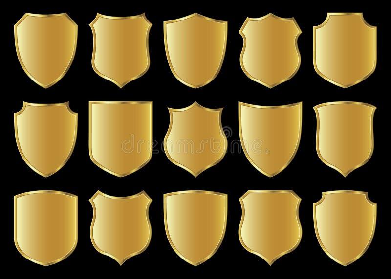 Shield design set royalty free illustration