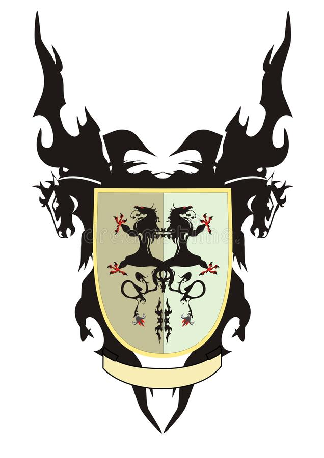 Shield With Dragons Royalty Free Stock Photos