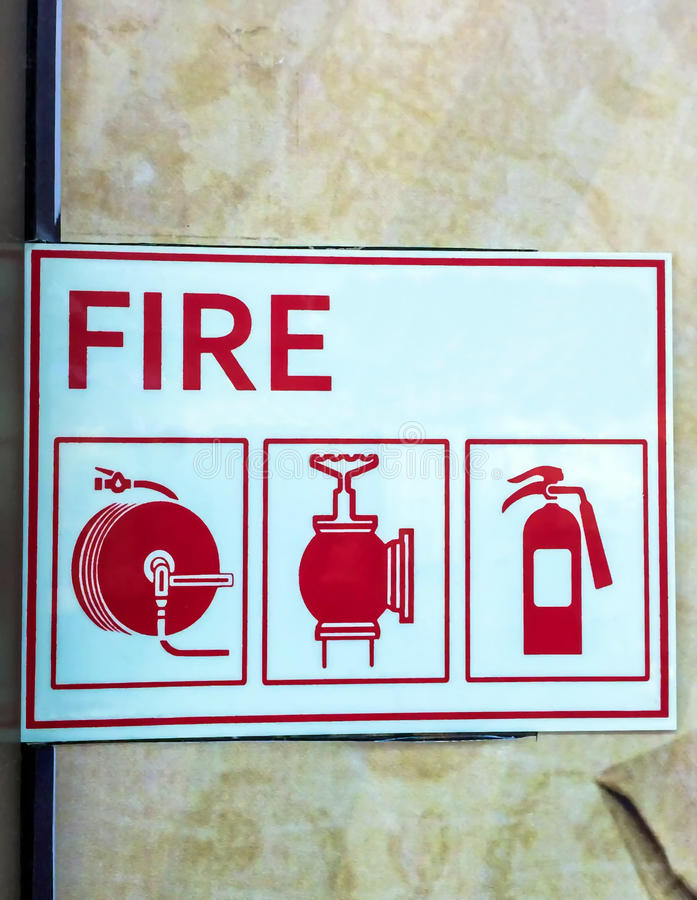 Shield of fire safety. Shield with fire-prevention safety royalty free stock photography
