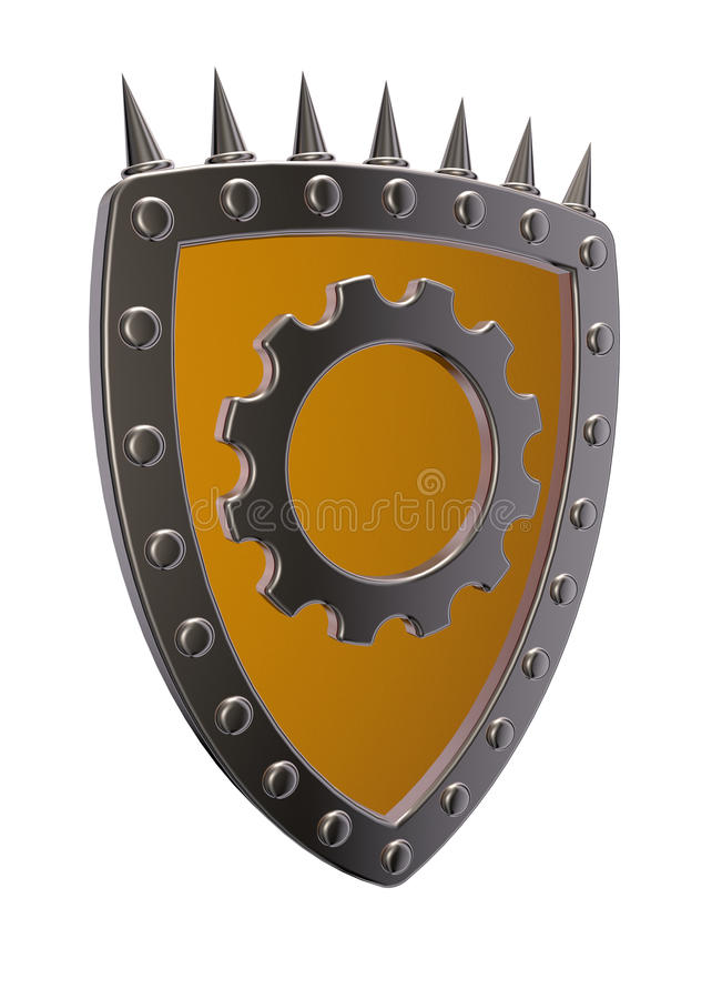 Download Shield with gear wheel stock illustration. Illustration of element - 33757132