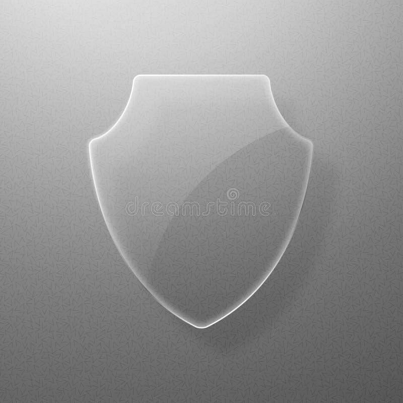 Shield_glass illustrazione di stock