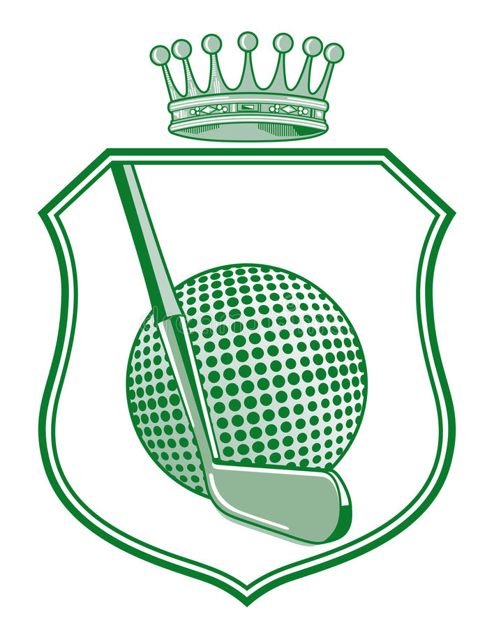 Shield with golf ball