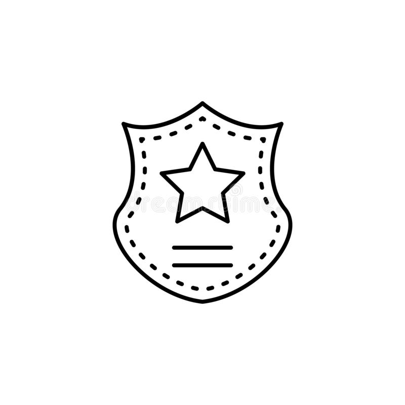 Shield icon. Element of legal services thin line icon. On white background royalty free illustration