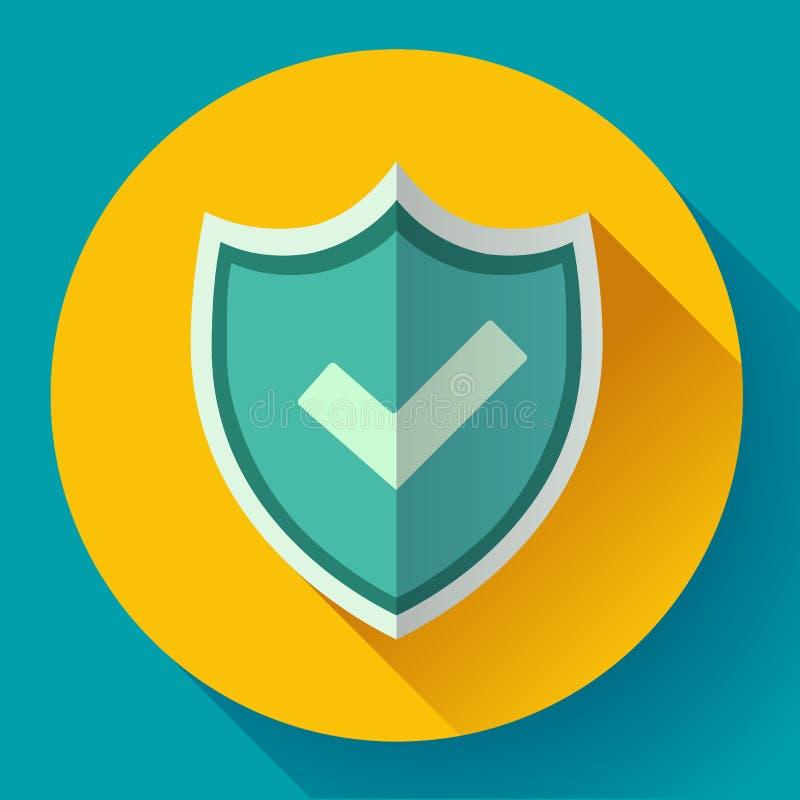 Shield icon - protection symbol. Flat design style. vector illustration