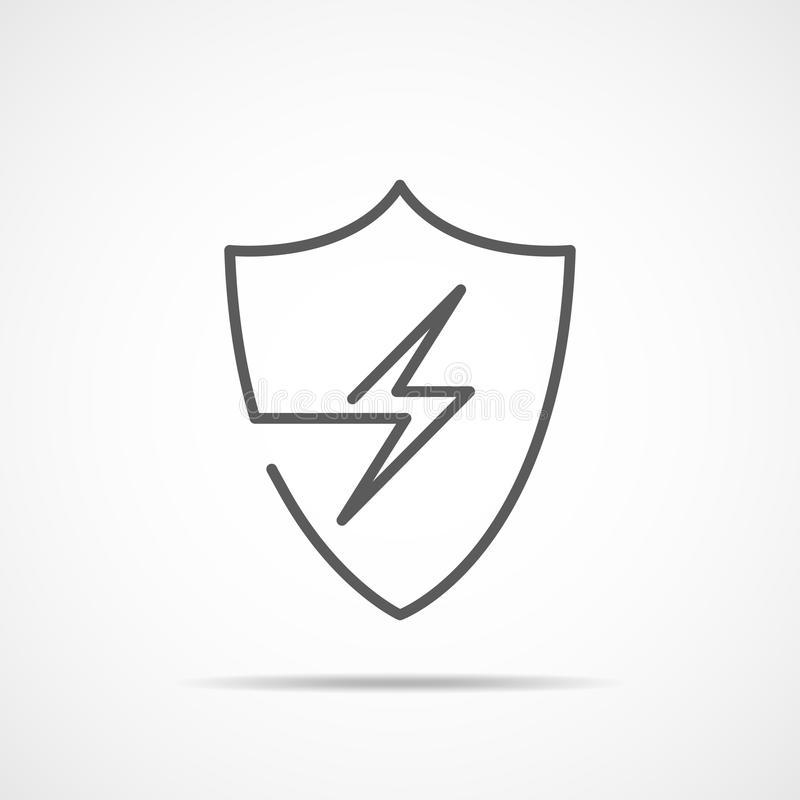 Free Shield Icon With Lightning. Vector Illustration Stock Photos - 104206933