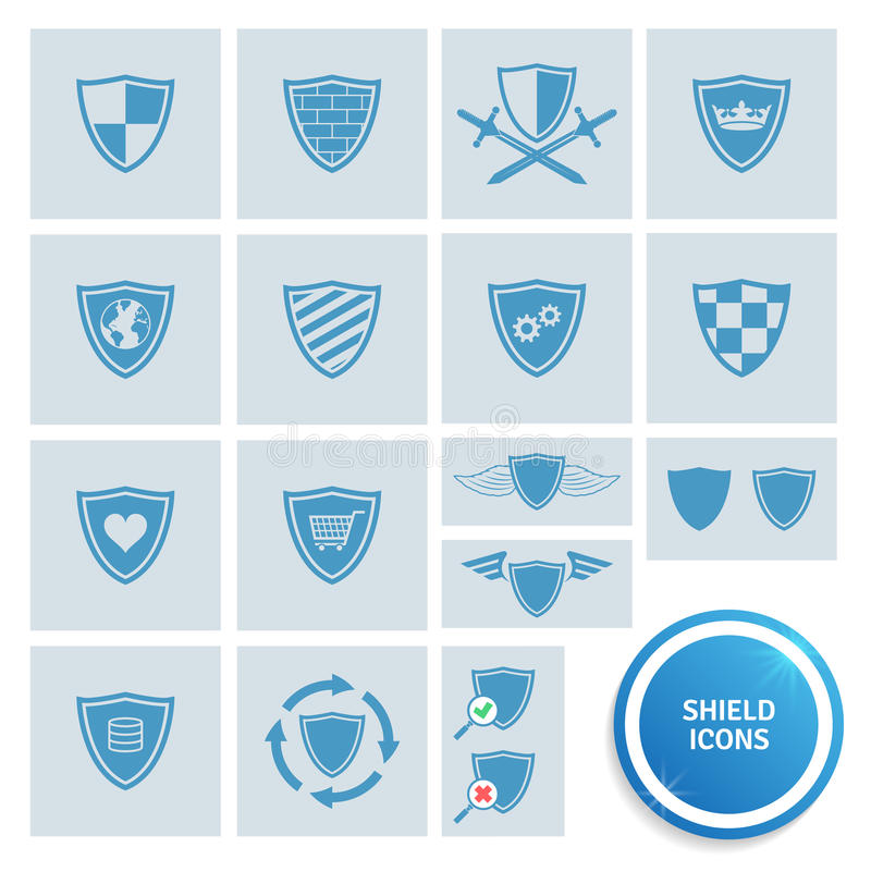 Shield icons vector illustration