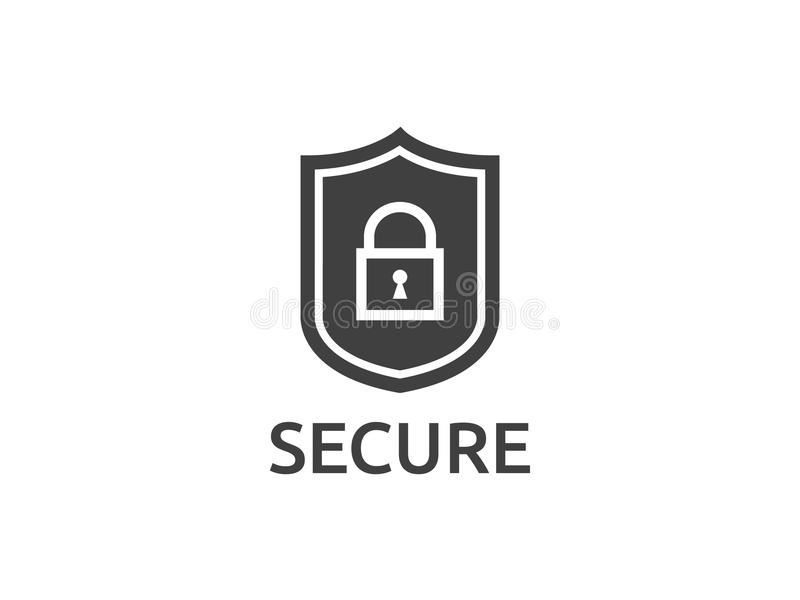 shield line icon, Internet VPN Security Concept vector illustration royalty free illustration