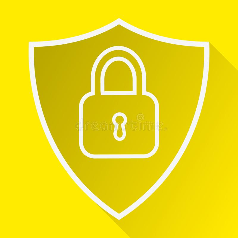 shield line icon, Privacy Data protection and Internet VPN Security Concept vector illustration royalty free illustration