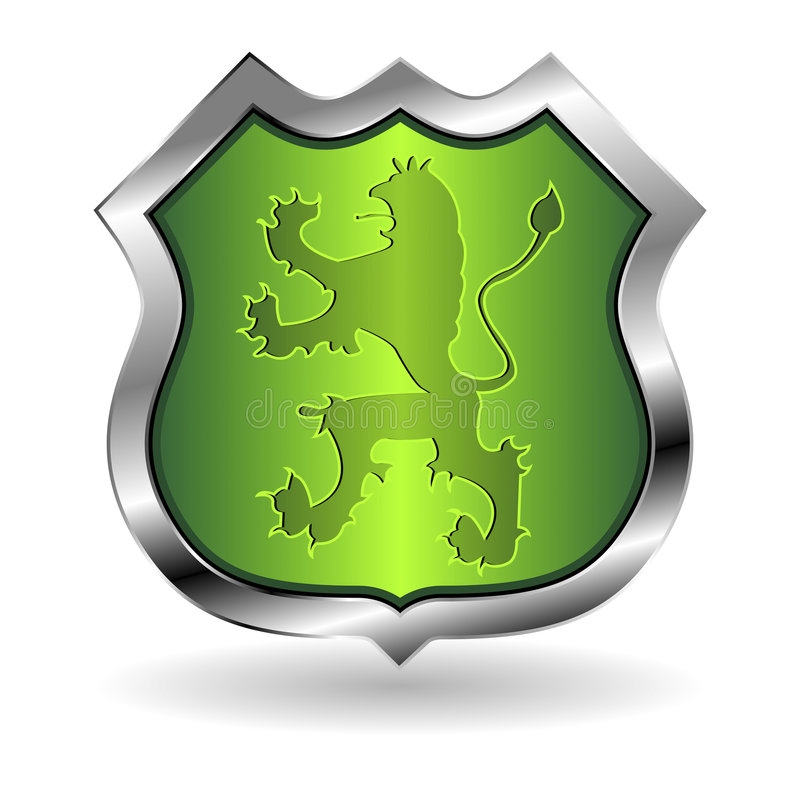 Download Shield with lion stock vector. Image of icon, illustration - 9276608