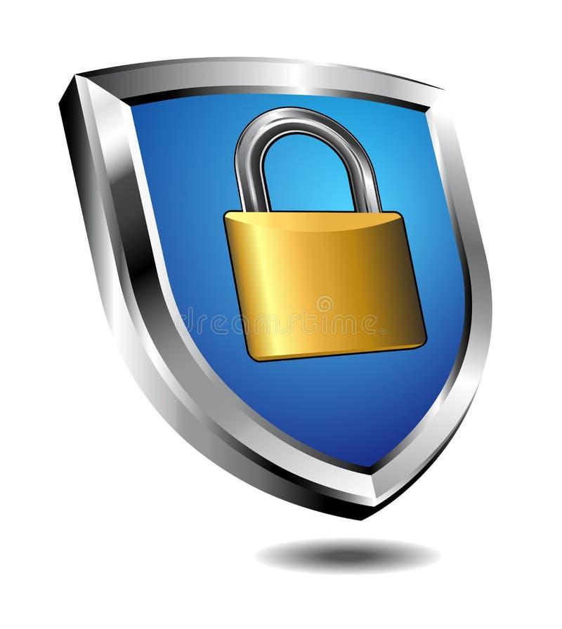 Shield Lock vector illustration
