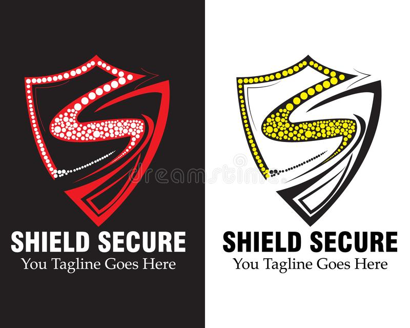 shield logo vector concept. with arm-shield. The letter s design from letter S form vector illustration