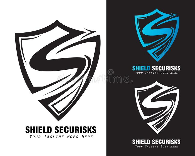 Shield logo vector concept. with arm-shield. The letter s design from letter S form version 2. Shield logo vector concept. Can be used as logo for security stock illustration