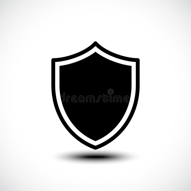 Shield protection icon illustration royalty free illustration