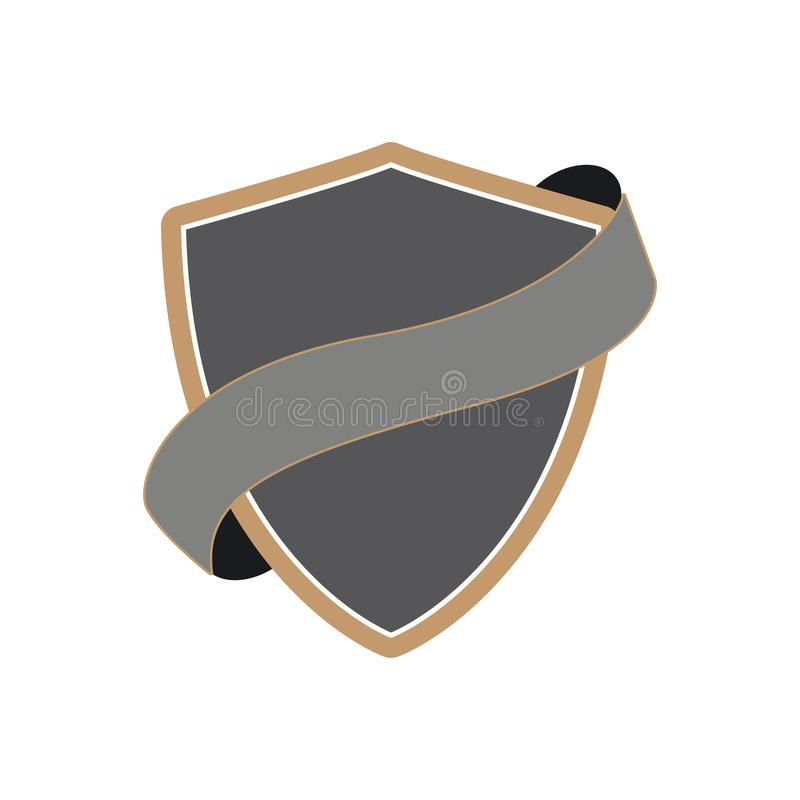 shield with ribbon image royalty free illustration
