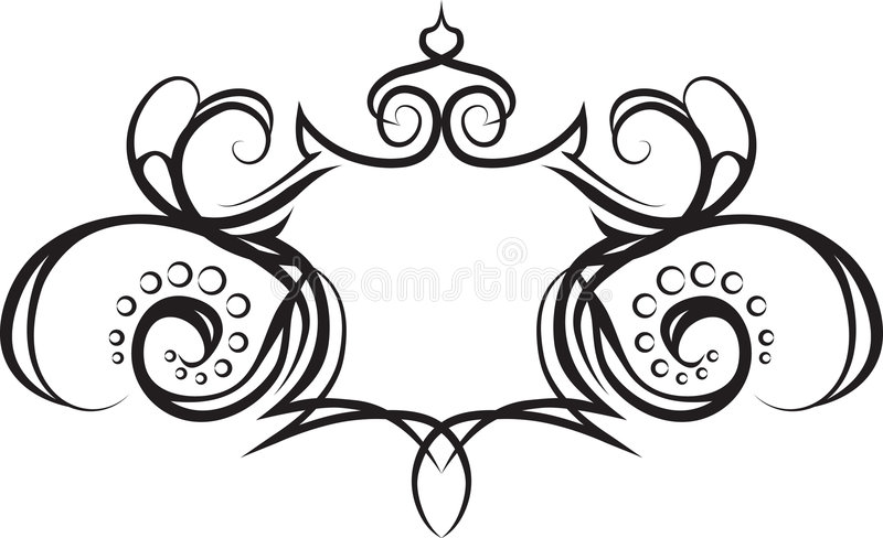 Shield scroll frame background. A Shield scroll frame background. No meshes used royalty free illustration