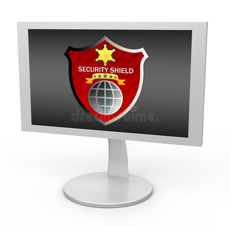 Download Shield security stock illustration. Illustration of internet - 17628637