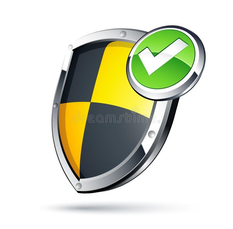 Download Shield security concept stock vector. Image of heraldic - 9883483