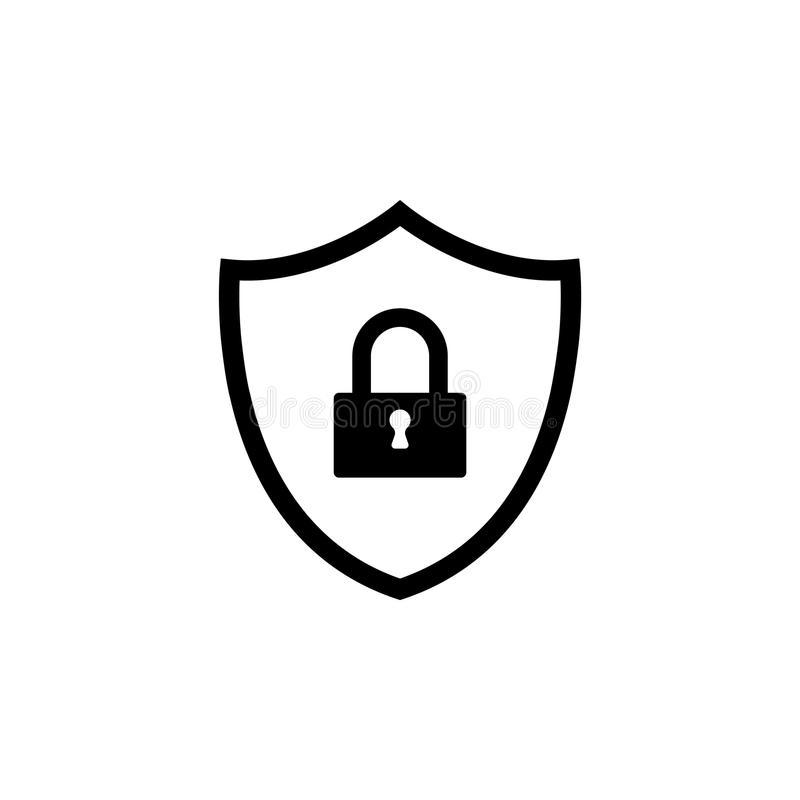 Shield security icon. vector stock illustration