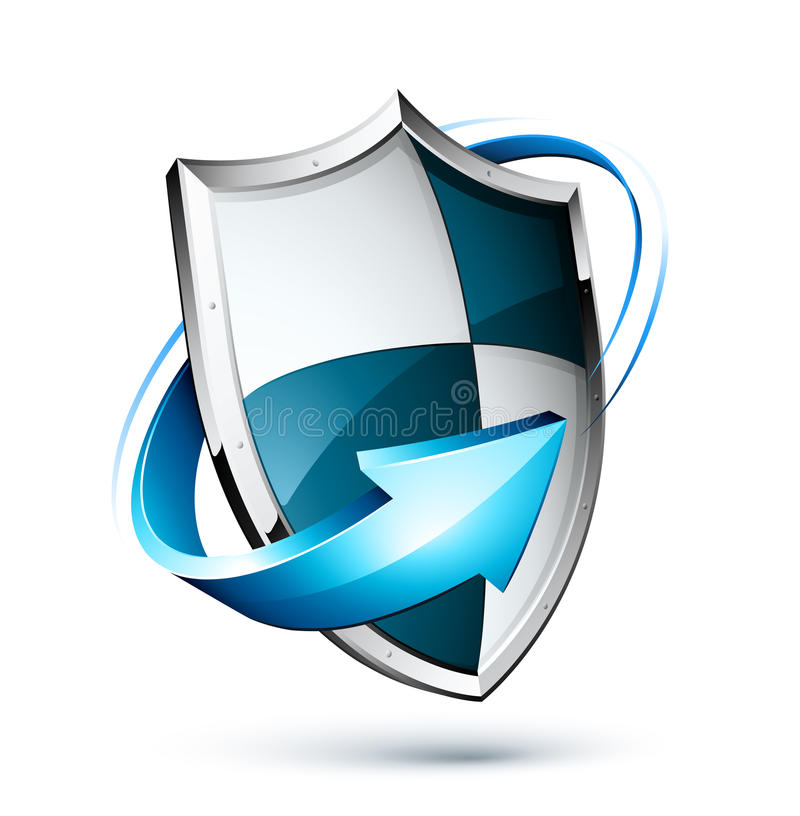 Free Shield Surrounded By Arrow Stock Photos - 13597183