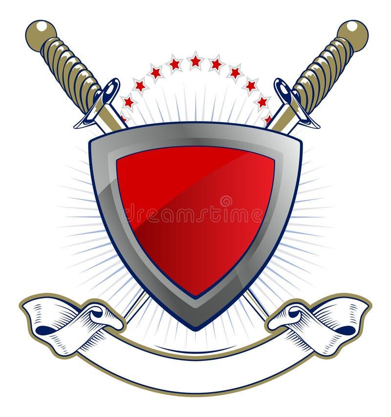 Download Shield and sword emblem stock vector. Illustration of emblem - 21111700