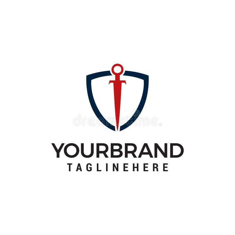Shield Sword Guardian Logo Template. Shield Sword Guardian Logo designs Template vector illustration