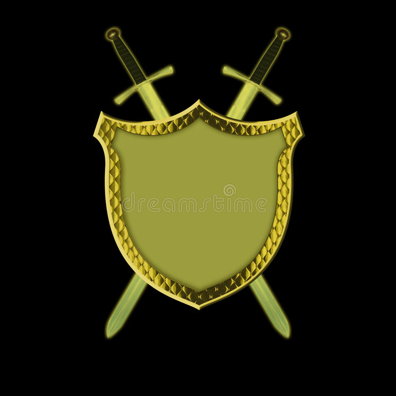 Download Shield with Swords stock illustration. Illustration of history - 20731626