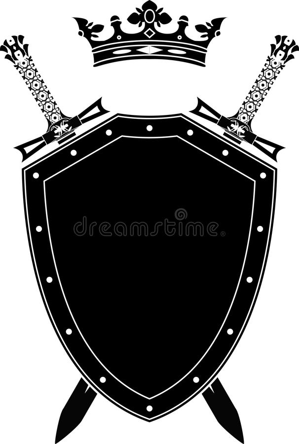 Free Shield, Swords And Crown Stock Photos - 19035533