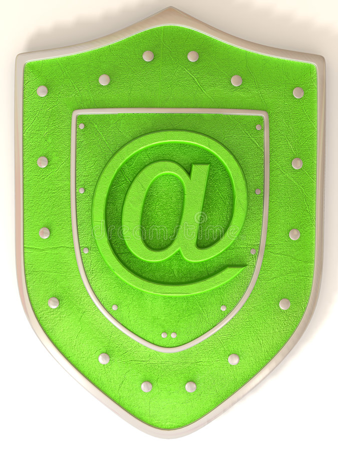 Download Shield With Symbol For Internet Stock Illustration - Image: 4462975