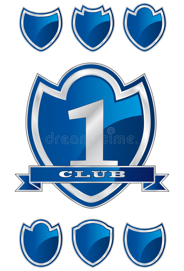 Shield Template D stock vector. Illustration of club, blank - 8603367